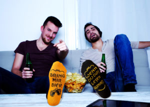 Bier-Socken Orange