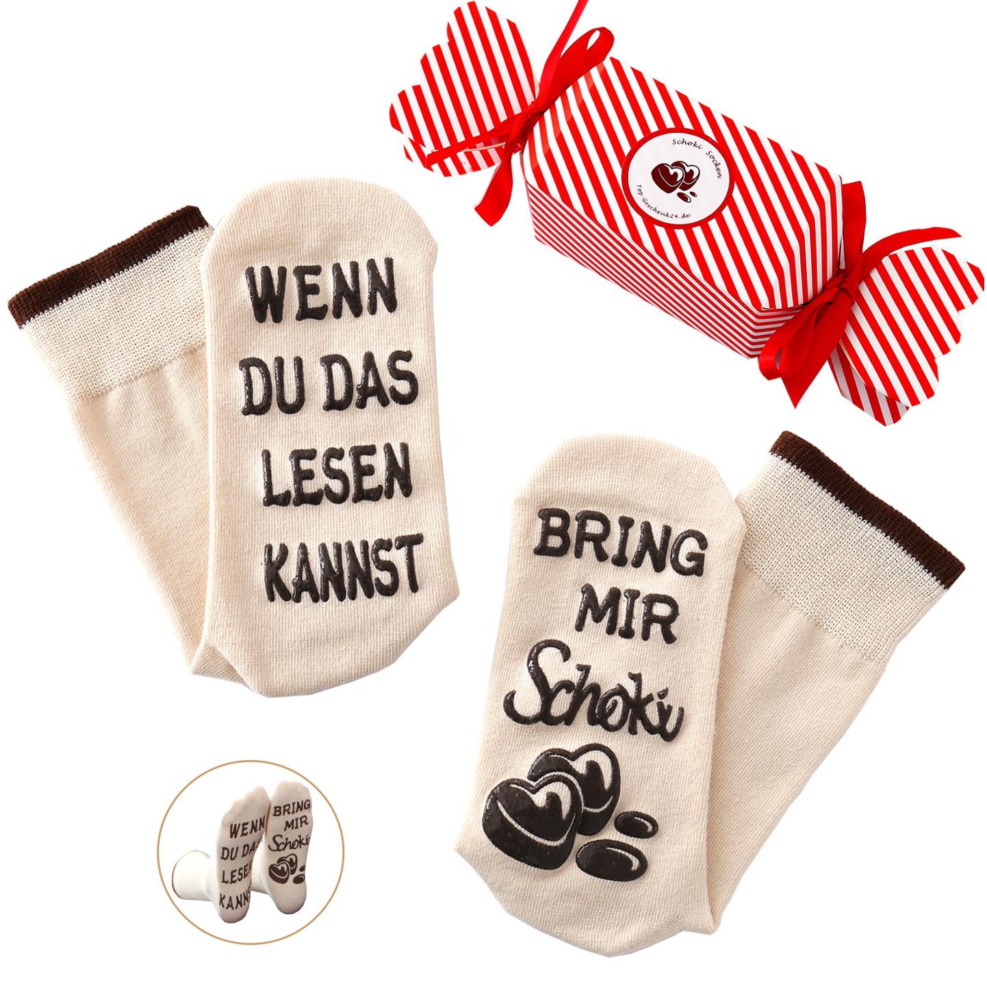 Schoki-Socken Beige